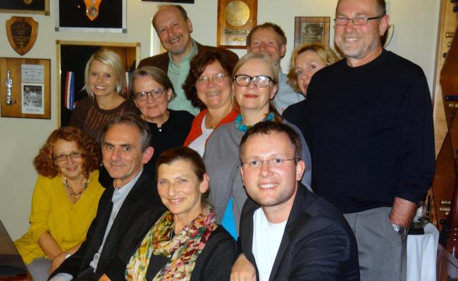 Photo from evening with Agnieszka Holland.